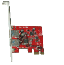 Lyc-U3-MP - Lycom PCIe 2 port USB3.0 host card